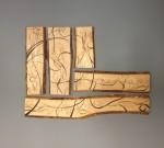 Massivholz  Esche per Hand bearbeitet ,Muster  ein gebrannt